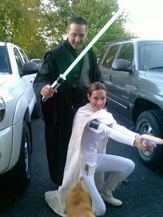 STAR WARS COSTUMES: - Padme Amidala and Anakin Skywalker Sith