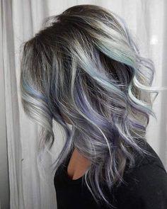 blue , purple , gray hair colored hair inspiration.