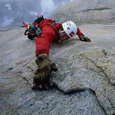 These intrepid rock climbers thrill in tackling the longest and hardest - and probably most dangerous - big wall climbs they can find. Because their climbs can last for weeks they must set up tents on the edge of cliff faces for much needed rest  Picture: GORDON WILTSIE / NATIONAL GEOGRAPHIC STOCK / CATERS NEWS