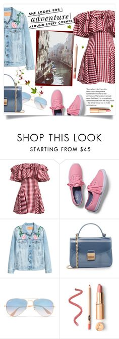 """""""Check Trends"""" by katerina1500 ❤ liked on Polyvore featuring House of Holland, Keds, Furla, Ray-Ban and Kate Spade"""
