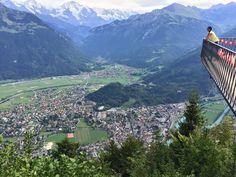 Mirador Harder Kulm. Nuestro viaje a Suiza. Agosto 2015.