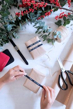 Last Minute Wrapping Idea: Label Wrapping
