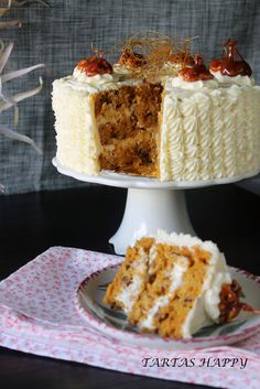 Tartas Happy: CARROT CAKE (Para el cumpleaños de mi hermana)