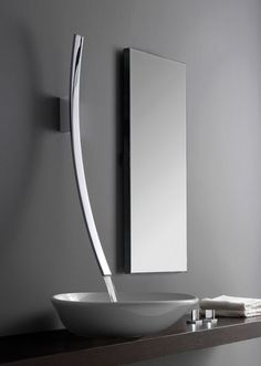 Close-up of sleek modern sink.