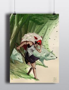 Princess mononoke poster. by Ikanart on Etsy