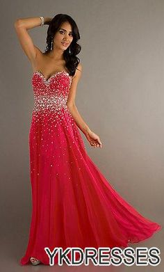Red long prom dresses on sale