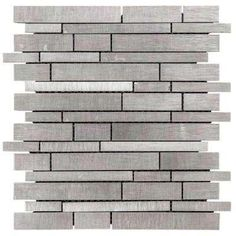 Silver Chain 12 in. x 12 in. x 8 mm Metal Mosaic Wall Tile