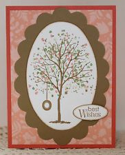 GREETING CARD KIT Lot of 4 ~ 3 Greetings ~ Stampin Up Branch Out Birthday Thanks