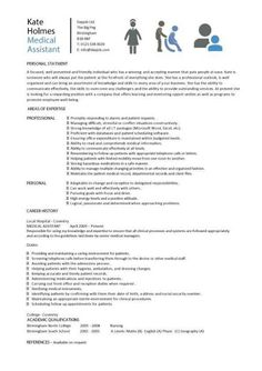 Medical Assistant Sample Resume Resumes Good Examples Ideas Cv