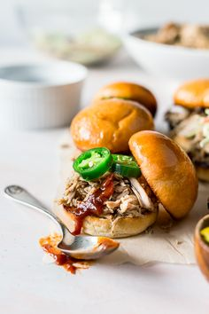Whiskey Honey Pulled Pork is slow cooked to perfection and loaded with flavors of sweet honey, tart cider, and whiskey for a delicious meal!