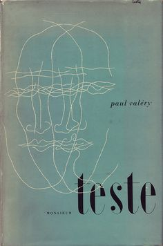 Monsieur Teste by Paul Valery | Cover by Alvin Lustig (Knopf, 1947)