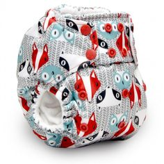 We have the most adorable new prints from Rumparooz now available at TGN! Meet Clyde. Available in G2 One Size Snap diapers, Lil Joey Newborn Diapers, and Pail Liners. Uber cute!