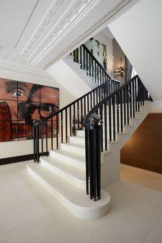 Kensington, London | Stairway with handblown glass balls