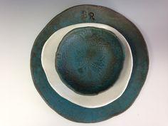 "Handmade ceramic plates, ""Set for 2""  Organic shaped Handmade Tableware dinner plates Dinnerware set"