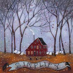 """SIMPLIFY"" original painting by Deborah Gregg"