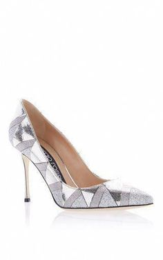 9c8e98dc660 SERGIO ROSSI METALLIC LEATHER KITTEN HEEL PUMPS.  sergiorossi  shoes ...