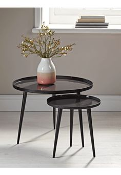 NEW Enamelled Tables - Charcoal - Furniture