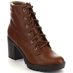 Breckelle's RANGER-21 Women's Basic Block Heel Lace Up Military Ankle Booties, Color:TAN, Size:9 * You can find out more details at the link of the image. (This is an affiliate link) #AnkleBootie