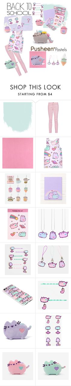 """""""#PVxPusheen"""" by little-peach-pansy ❤ liked on Polyvore featuring Current/Elliott, Casadeco, Pusheen, contestentry and PVxPusheen"""