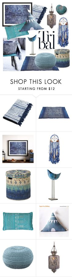"""Tribal Decor"" by gangdise ❤ liked on Polyvore featuring interior, interiors, interior design, home, home decor, interior decorating, Pottery Barn, SCP, Bitossi and Thro"