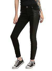 Joan Jett Tripp NYC Black Twill Skinny Jean