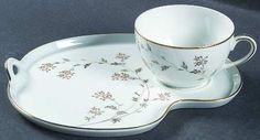Snack Plate And Cup Set in the Andrea pattern by Noritake $24.99