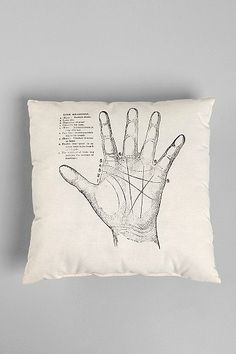 The Rise and Fall Palmistry Pillow
