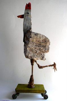 poule,sculpture,gérard collas,carennac