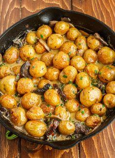 13. Roasted Baby Potatoes in a Homemade Mushroom Sauce