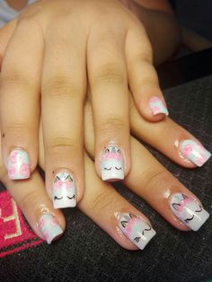 Unicorn Nails Unicorn Inspo Unicorn nails designs, Unicorn little diva nails unicorn - Diva Nails Really Cute Nails, Cute Nail Art, Nail Art Diy, Unicorn Nails Designs, Unicorn Nail Art, Nails For Kids, Diva Nails, Little Diva, Crazy Nails