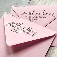 Return Addresses Add On // Hand Lettered Envelopes // Custom