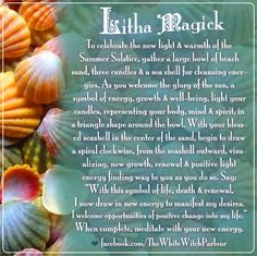 Litha, Summer Solstice, energy, renewal, manifest, cleansing, ritual, magick, witch, white, beach, ocean, seashells, metaphysical, wicca, occult, meditation, mandala, book of shadows www.facebook.com/thewhitewitchparlour