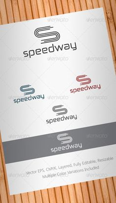 Speedway Logo Template  #GraphicRiver         Simple, clean and modern Abstract Multipurpose logo template.