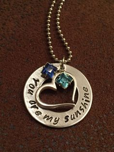 Personalized You are my sunshine necklace by SweetLifeDesignsofSC