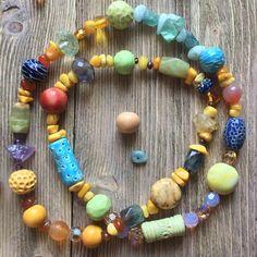 Эти бусы я сделала для своей дочки. Сделаю похожие на заказ. #бусы #керамика #бусины