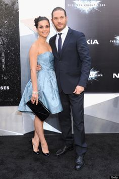 'Dark Knight Rises' Premiere In New York City Sarah Ward and Tom Hardy.