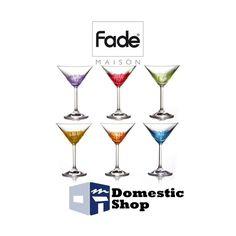6 BICCHIERI IN VETRO DI BOHEMIA PER DRINKS E COCKTAILS - COLORI ASSORTITI - FADE  http://www.domesticshop.it/index/product.php?id_product=900