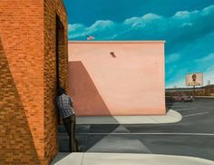 "Saatchi Art Artist Richard Hutchins; Painting, ""Figure Leaning Against Building"" #art"