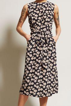 No.6 Mona Dress in Black Anemone