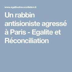 Un rabbin antisioniste agressé à Paris - Egalite et Réconciliation
