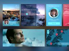 iOS7 inspired UI kit by Kreativa Studio