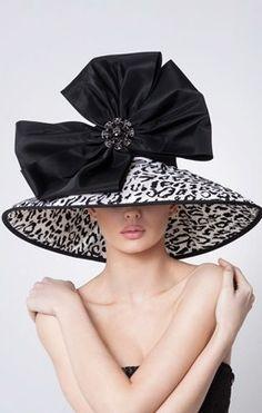 Sasha.Black Taffeta Lampshade Hat.