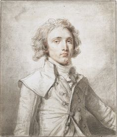 JEAN-BAPTISTE GREUZE (TOURNUS 1725 - 1805 PARIS) PORTRAIT OF A YOUNG GENTLEMAN Black and red chalk and stumping, within brown ink framing lines 35,9 x 30,8 cm