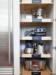 30 Genius DIY Kitchen Storage and Organization Ideas, WOW! Roll out shelves for tools!, Kitchen Storage and Organization Ideas Small Kitchen Organization, Diy Kitchen Storage, Kitchen Pantry, Diy Storage, Organization Ideas, Storage Ideas, Storage Drawers, Kitchen Cabinets, Kitchen Shelves