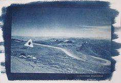 Cyanotype print  Sierra Nevada Mountains photography  by Altphotos, for sale