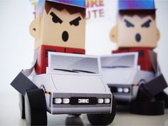 Calling All Cars – BACK TO THE FUTURE Tribute - by Philtoys     http://www.paper-toy.fr/2013/02/03/calling-all-cars-back-to-the-future/    #papertoys #papercraft #paper #arts #toys #BTTF #tribute #DIY