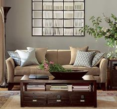 PB Eagan Mirror Above Couchjust Ordered For Our Family Room