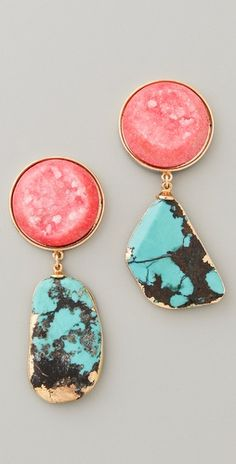 love love love these earrings - love that they aren't exactly the same on both sides