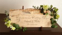 maplewood welcome sign Wedding Welcome Board, Welcome Boards, Welcome Table, Wedding Party Favors, Diy Wedding, Wedding Flowers, Wedding Decorations, Wedding Images, Wedding Designs