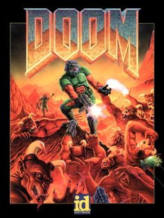 D7420 DOOM Original Retro Art Video Game 32x24 Print POSTER  ( for the living room redo)